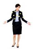 Businesswoman with adhesive cards. Stock Photography