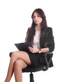 Businesswoman with advisor on office chair Stock Photography