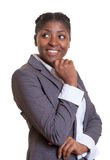 Businesswoman from Africa looking sideways Royalty Free Stock Image