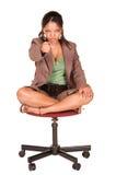 businesswoman afrykańskiej Obrazy Royalty Free