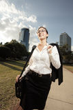 Businesswoman After Work Stock Photography