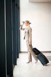 Businesswoman airport Stock Images