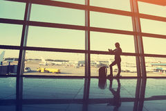 Businesswoman at the airport Royalty Free Stock Photo