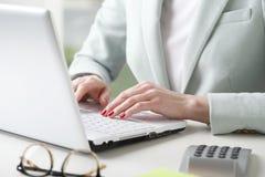 Businesswoman analyzing data Stock Image