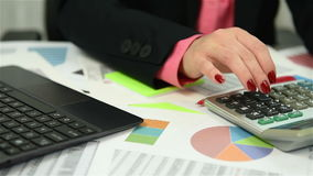 Businesswoman Analyzing Market Data stock video