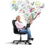 Businesswoman analyzing profits Royalty Free Stock Photo