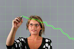 Businesswoman anc Chart Royalty Free Stock Images