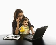 Businesswoman And Baby. Stock Photos