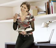 Businesswoman And Books Stock Photography