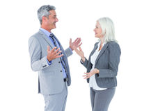 businesswoman angry against her colleague arguing Royalty Free Stock Images