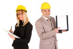Businesswoman and architect Royalty Free Stock Photo