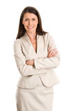 Businesswoman with arms crossed Stock Photography