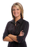 Businesswoman With Arms Crossed Stock Photo