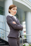 Businesswoman with arms crossed. Stock Images