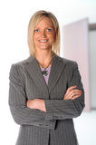 Businesswoman With Arms Crossed Royalty Free Stock Photos