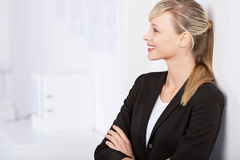 Businesswoman in arms crossed Royalty Free Stock Images