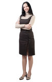 Businesswoman with arms crossed standing Stock Photography