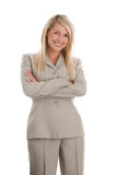 Businesswoman with arms folded Royalty Free Stock Photos