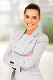 Businesswoman arms folded Royalty Free Stock Image