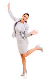 Businesswoman arms up Royalty Free Stock Image
