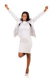 Businesswoman arms up Royalty Free Stock Photography