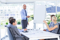 Businesswoman asking question during meeting Royalty Free Stock Photo