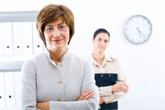 Businesswoman and associate Stock Photo