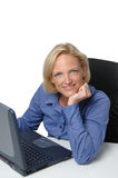 Businesswoman At Her Desk Stock Photo