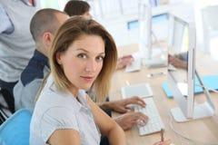 Businesswoman attending training class Stock Photos