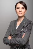 Businesswoman with an attentive expression Stock Photo