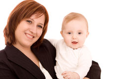 Businesswoman with baby Stock Images