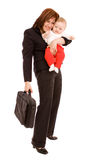 Businesswoman with baby Royalty Free Stock Photo