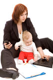 Businesswoman with baby Royalty Free Stock Photography