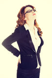 Businesswoman with back pain. Stock Photo