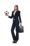 Businesswoman with ball Stock Photography