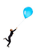 Businesswoman with balloon Royalty Free Stock Image