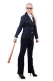 Businesswoman with baseball bat Stock Photography