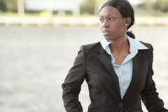 Businesswoman by the bay Royalty Free Stock Photos