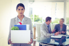 Businesswoman after being let go Royalty Free Stock Images