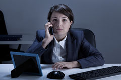 Businesswoman being on the phone Stock Images