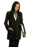 Businesswoman with big binder Stock Photos