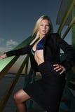 Businesswoman with a bikini Royalty Free Stock Photo