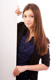 Businesswoman  billboard poster Stock Photography