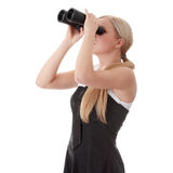 Businesswoman with binocular Stock Photos