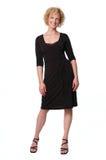 Businesswoman on a black dress Royalty Free Stock Photos