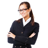 Businesswoman in black jacket Royalty Free Stock Photos