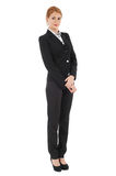 Businesswoman in black suit Royalty Free Stock Images
