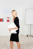 Businesswoman in black Stock Photo