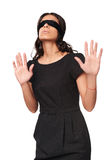Businesswoman in blindfold Royalty Free Stock Photography