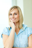 Businesswoman with blond hair Royalty Free Stock Photos